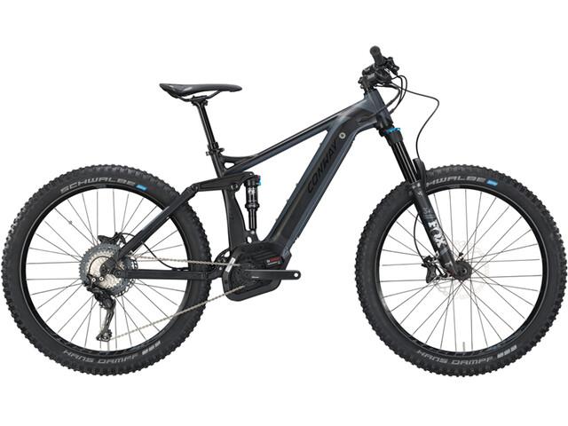 Conway eMF Powertube 527 Plus E-MTB fullsuspension sort (2019) | Mountainbikes